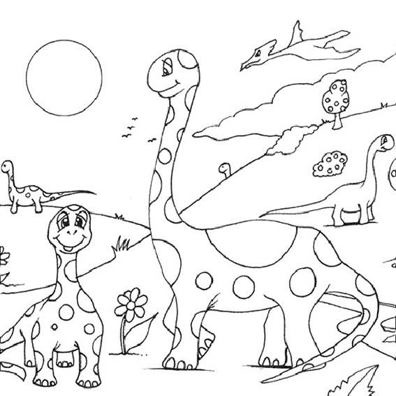 mehrere Dinosaurier