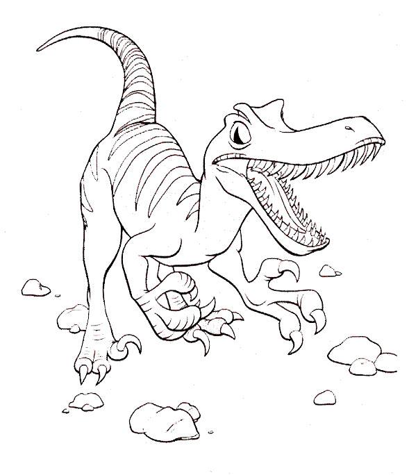 dinosaurier 3 zum malen