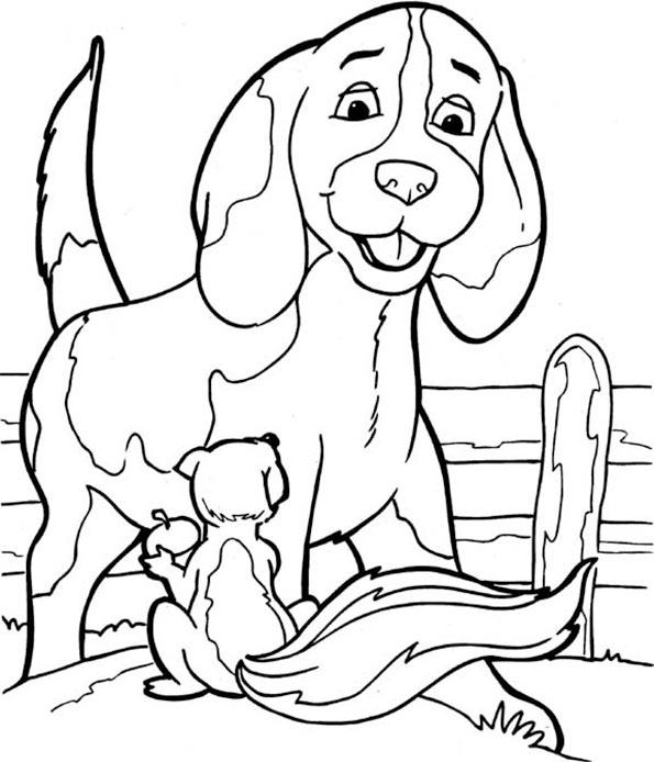 Hund mit einem Eichhörnchen