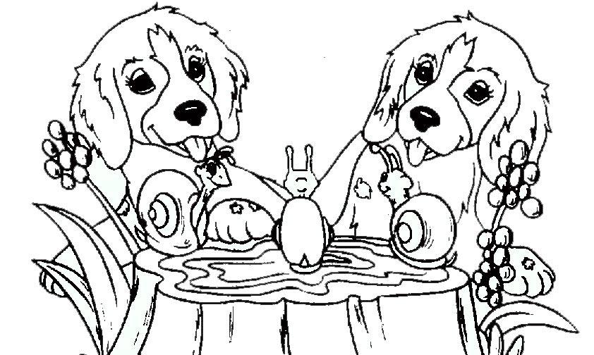 Ausmalbilder Hunde 5 | Ausmalbilder Tiere