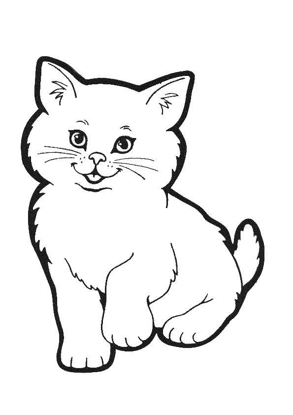 Ausmalbilder Katze 3 Ausmalbilder Tiere