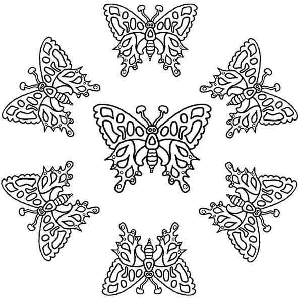 mandala Schmetterling
