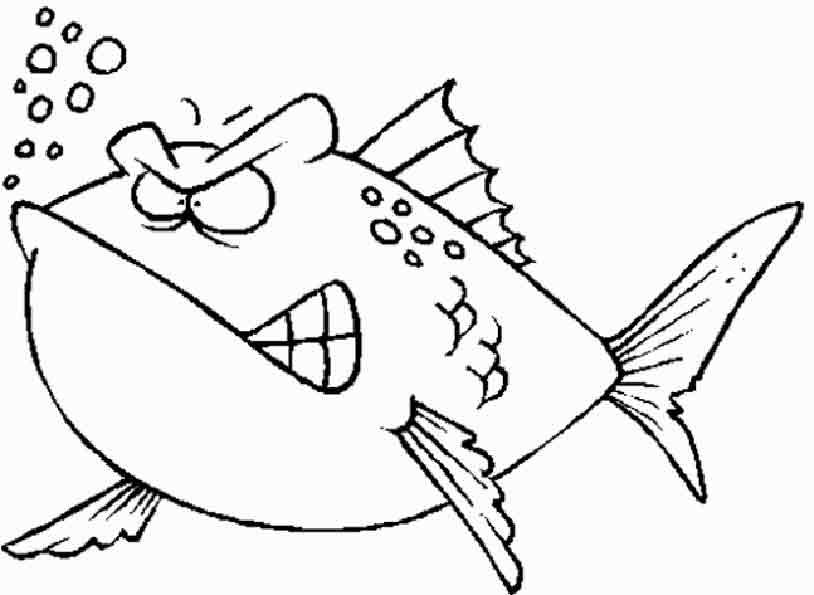 Fisch mürrisch zum malen