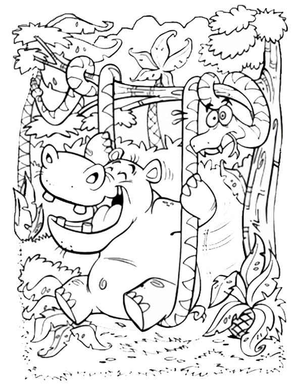 hippo und schlange