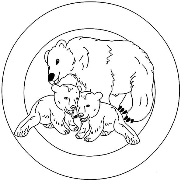 mandala mit tiere 1
