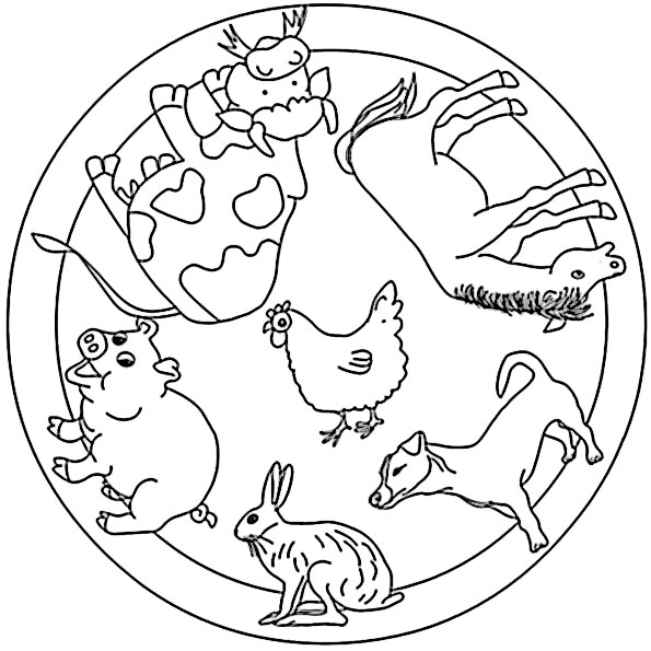 mandala mit tiere 2