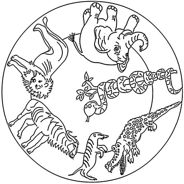mandala mit tiere 3