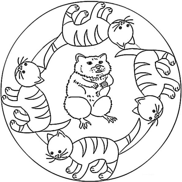 mandala mit tiere 5