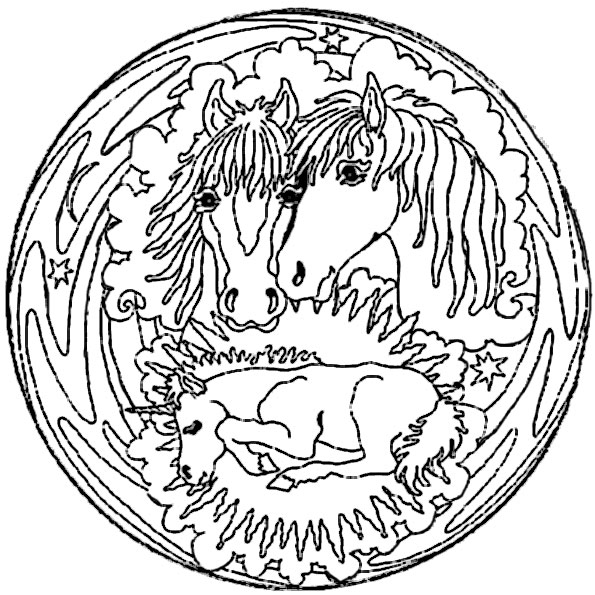 mandala mit tiere 8